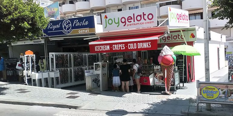 Ice Cream Take Away Shop Santa Ponsa Mallorca